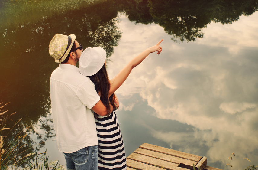 Embrace Of Happy Romantic Couple Explore The World Of Beautiful