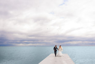 Newlyweds On The Pier.