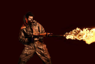 Flamethrower, Dark Background